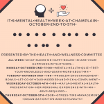 Mental health week poster