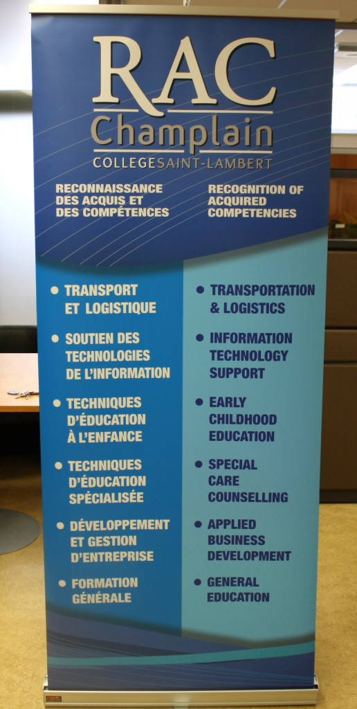 RAC banner with a list of available AECs